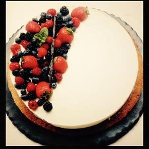 Bavaroise vanille et fruits rouges