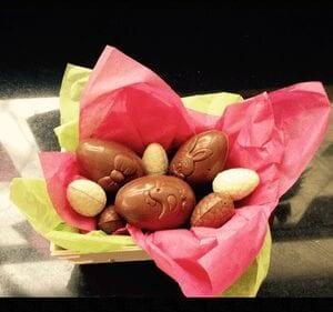 Oeufs en chocolat au coeur praliné